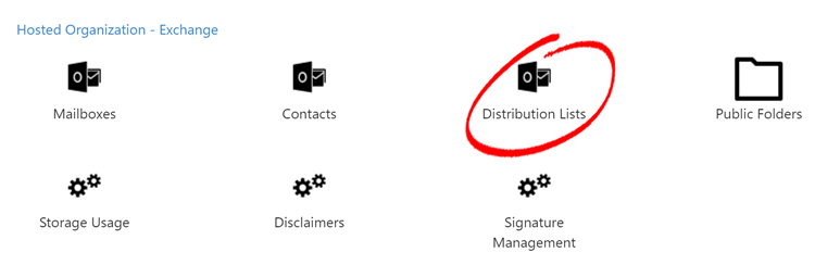 Distribution List Management